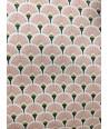 Nappe éventails rose 200x150