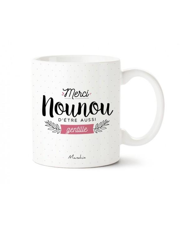 "Mug ""merci nounou d'être aussi gentille"""