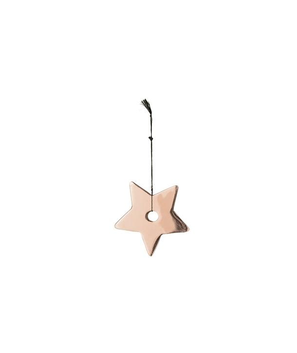 Décoration de Noël étoile cuivre
