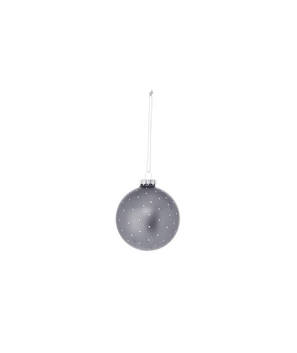 Boule de noël grise