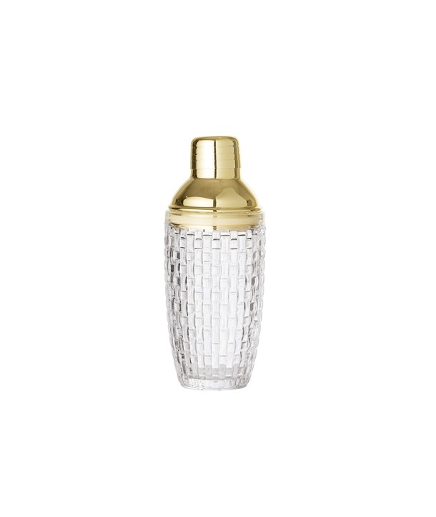 COCKTAIL SHAKER CLEAR GLASS